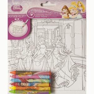Kleur je puzzel – Disney prinsessen