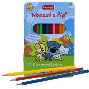 Kleurpotloden – Woezel en Pip