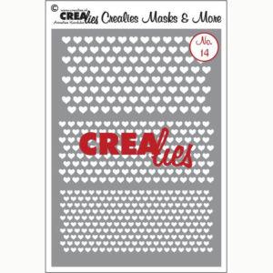 Crealies Flexibel sjabloon – No. 14 hartjes