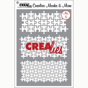 Crealies Flexibel sjabloon – No. 5 puzzelstukjes