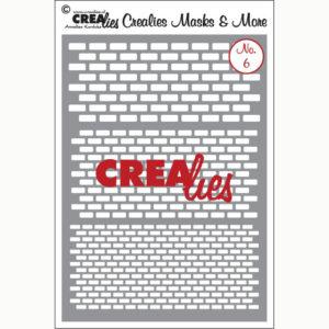 Crealies Flexibel sjabloon – No. 6 bakstenen