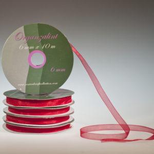 Organza lint – Rood 6mm