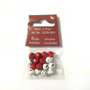 Belletjes – Rood / Wit 8mm
