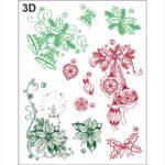 Viva Decor Clear Stamp – Classical Christmas 3D