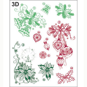 Viva Decor Clear Stamp – Classical Christmas 3D