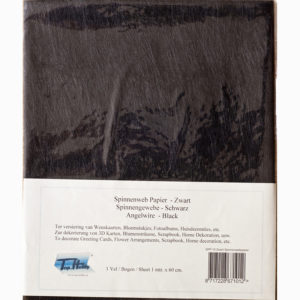 Spinnenwebpapier – Zwart