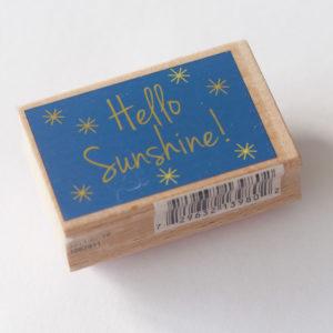 Houten stempel – Hello Sunshine