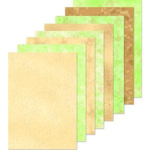 LeaCrea Design papier – Bruin en groen
