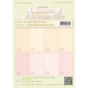 LeaCrea Design papier – Roze en oker
