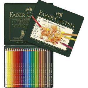 Faber Castell – Polychromos Potloden metalen etui 24 stuks