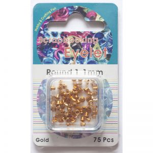Eyelets 1,1mm – Goud rond