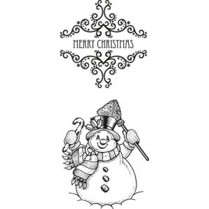 Vintage stempel – Merry Christmas