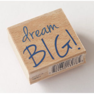 Houten stempel – Dream Big!